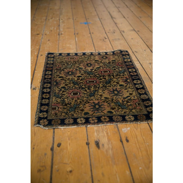 "Textile Vintage Farahan Sarouk Square Rug Mat - 2' X 2'6"" For Sale - Image 7 of 10"