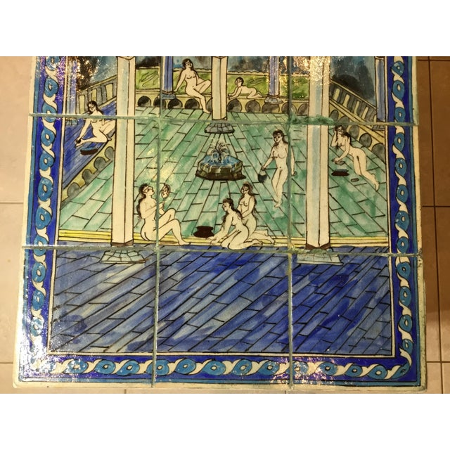 Vintage Persian Tile Top Coffee Table For Sale - Image 11 of 13