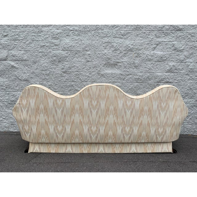 Mid Century Camelback Sofa For Sale - Image 4 of 9