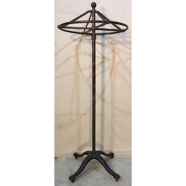 Art Deco Circular Revolving Clothing Rack For Sale - Image 3 of 11