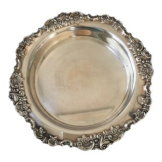 20th Century Art Deco Wallace Silversmiths Silver Wine Bottle Coaster For Sale