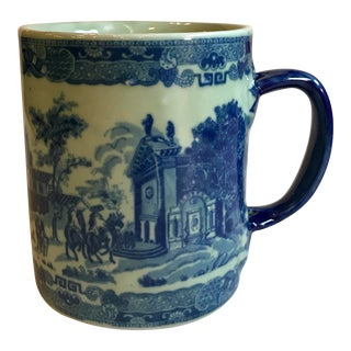 Early 20th Century Flo Blue Transferware Mug For Sale