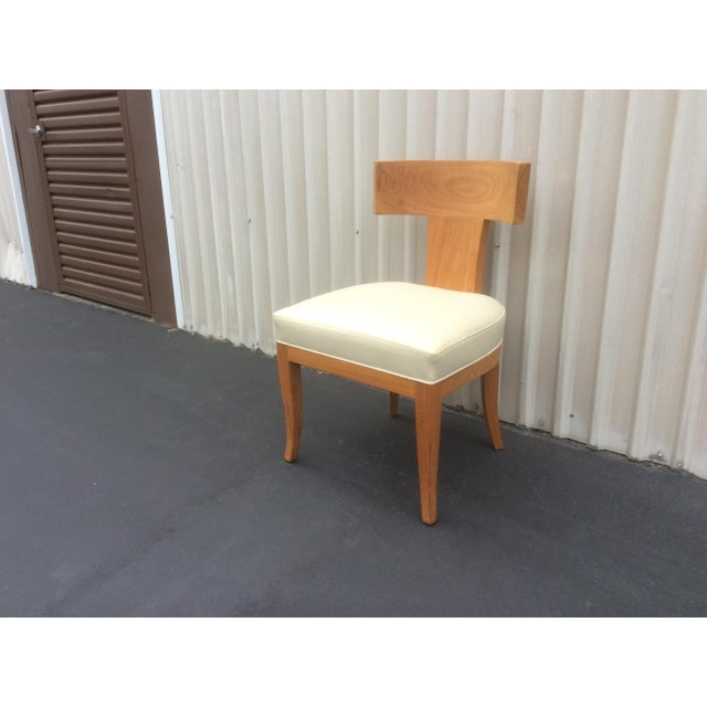 Mid Century Style Ceres Chair With Leather Seat by Ironies For Sale - Image 11 of 11