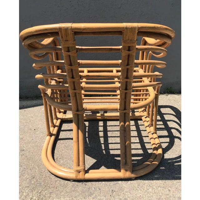 Brown Jordan 1970's Vintage Rattan Lounge Chair For Sale - Image 4 of 8