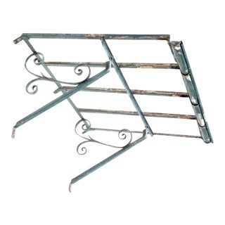 Antique Spanish Wrought Iron Architectural Awning For Sale