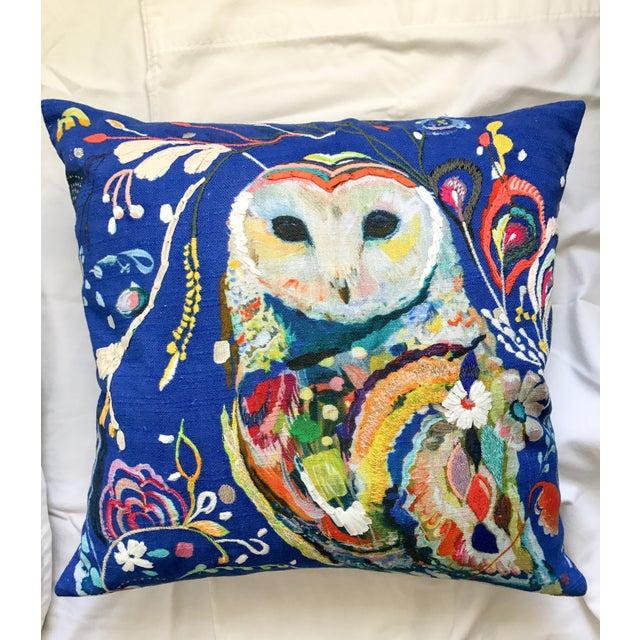 Anthropologie Starla Michelle Halfmann Owl Pillow - Image 2 of 9