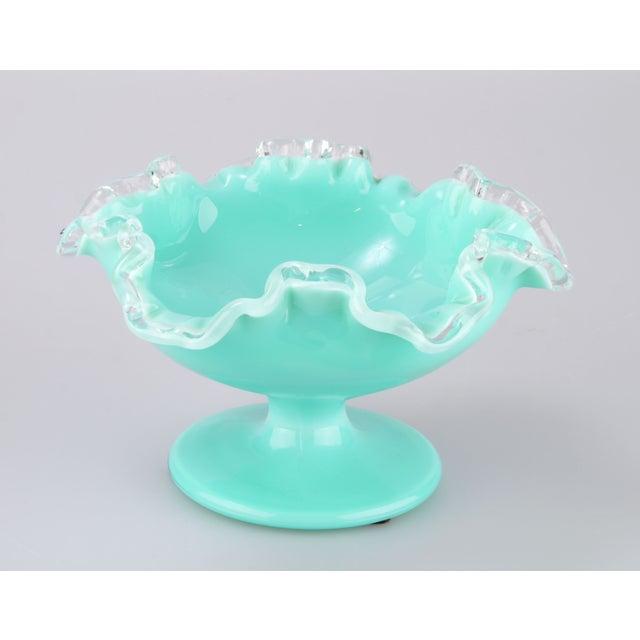 Turquoise Handblown Murano Candy Dish - Image 2 of 7
