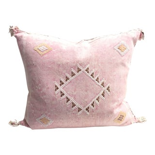 Pink Cactus Silk Sabra Pillow