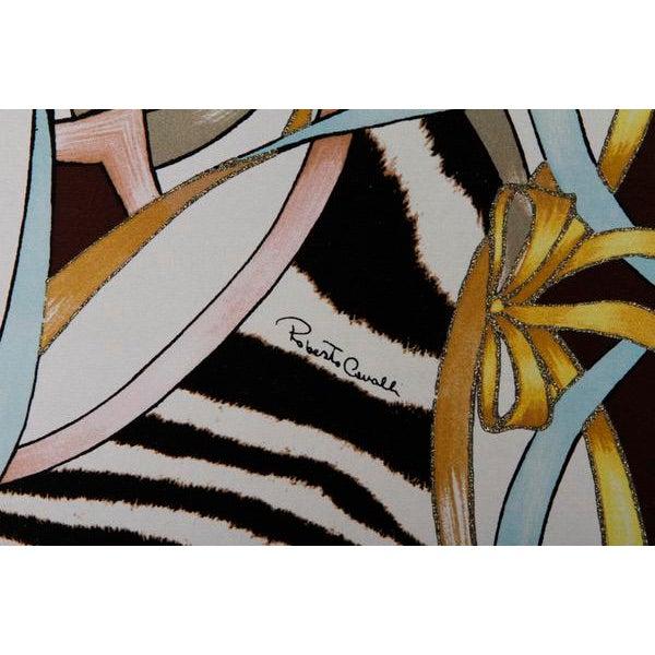 Roberto Cavalli Custom Upholstered Silk Loveseat - Image 2 of 9