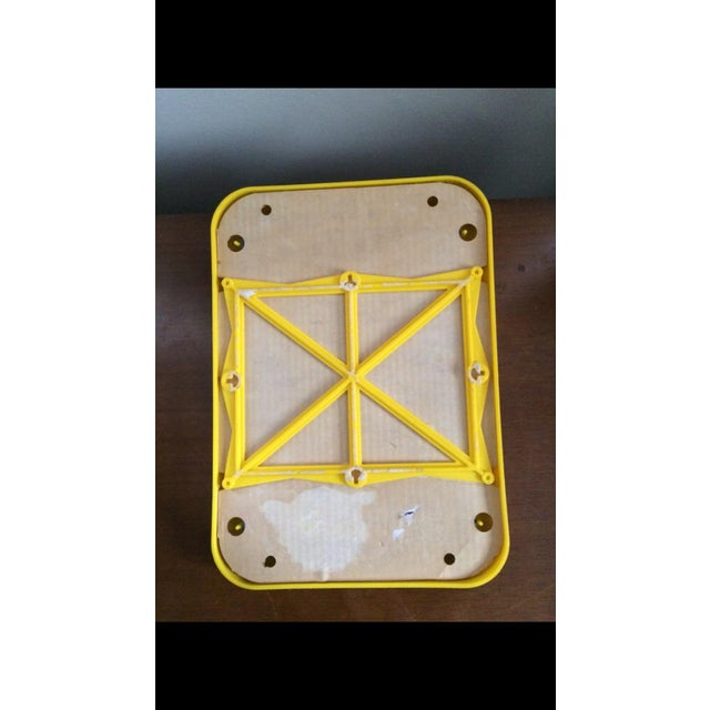 Mid Century Yellow Plastic Space Age Mirror - Image 6 of 6