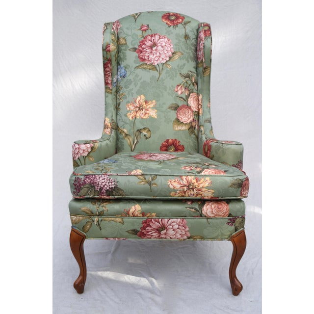 Baker Wing Back Chair For Sale - Image 10 of 10