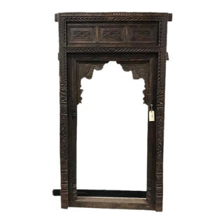 Antique Indian Teak Wood Arch For Sale