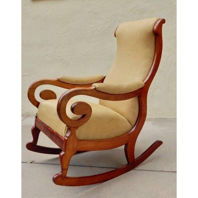 19th Century Antique Swedish Biedermeier Rocking Chair For Sale - Image 11 of 13