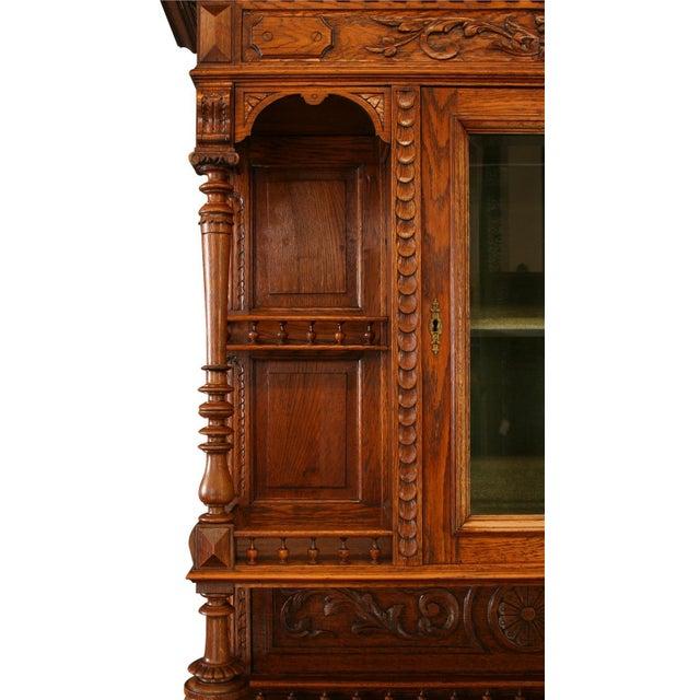 1900 - 1909 Antique Belgian Renaissance Buffet For Sale - Image 5 of 8