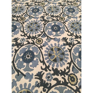 """Suzani"" Blue Travers Fabric"