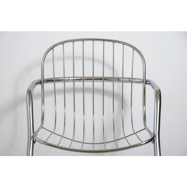 Metal Italian Tubular Chrome Cantilever Chairs - Set of 4 For Sale - Image 7 of 10