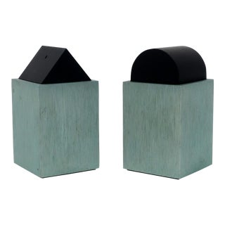 Green Post Modern Salt & Pepper by David Tisdale for Elika For Sale