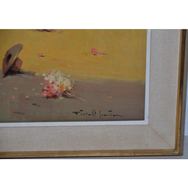 Canvas Joan Giralt-Lerin (Spain, 20th C.) Toreador Oil Painting C.1950 For Sale - Image 7 of 10