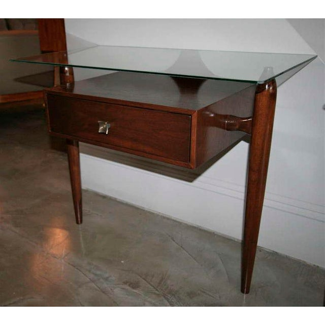 Scapinelli Glass Top Nightstands - a Pair For Sale In Los Angeles - Image 6 of 9
