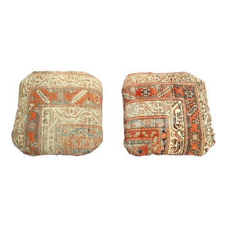 Antique Persian Carpet Pillows - a Pair