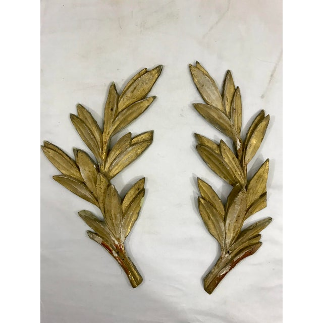 Louis XV Olive Leaf Boiserie Fragments a Pair For Sale - Image 6 of 6