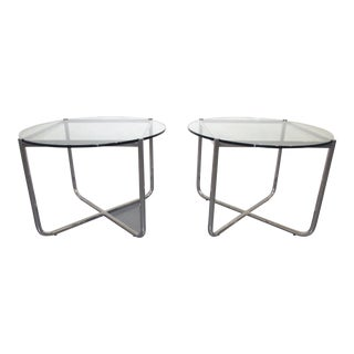 1927 Ludwig Mies Van Der Rohe for Knoll Side Tables - a Pair For Sale