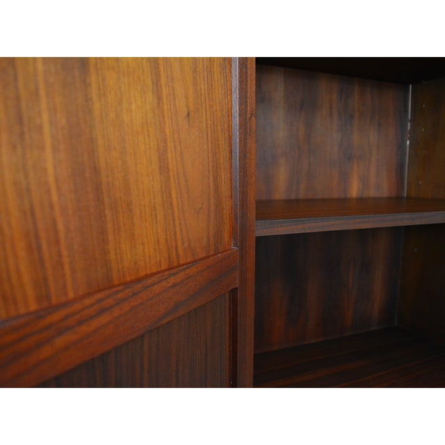 Caning Mid Century Jack Cartwright for Founder's Furniture Walnut Armoire For Sale - Image 7 of 13