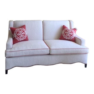 Custom Sofa With Brunschwig Fabric For Sale