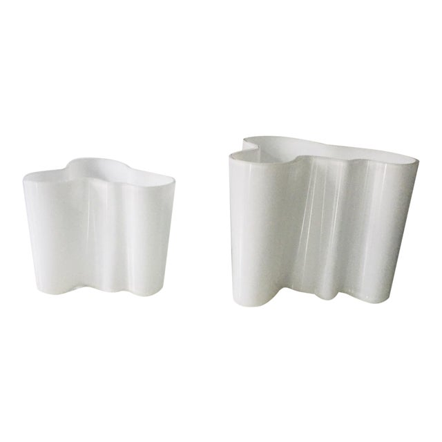 Vintage Alvar Aalto Savoy Vase White - a Pair For Sale