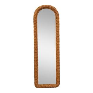 Tall Wicker Wall Mirror