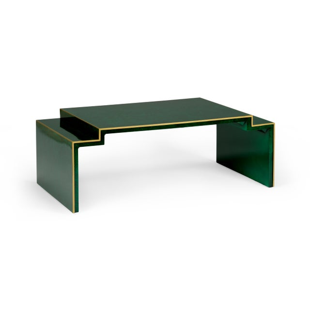 Contemporary Chatsworth Table in Green For Sale - Image 3 of 3