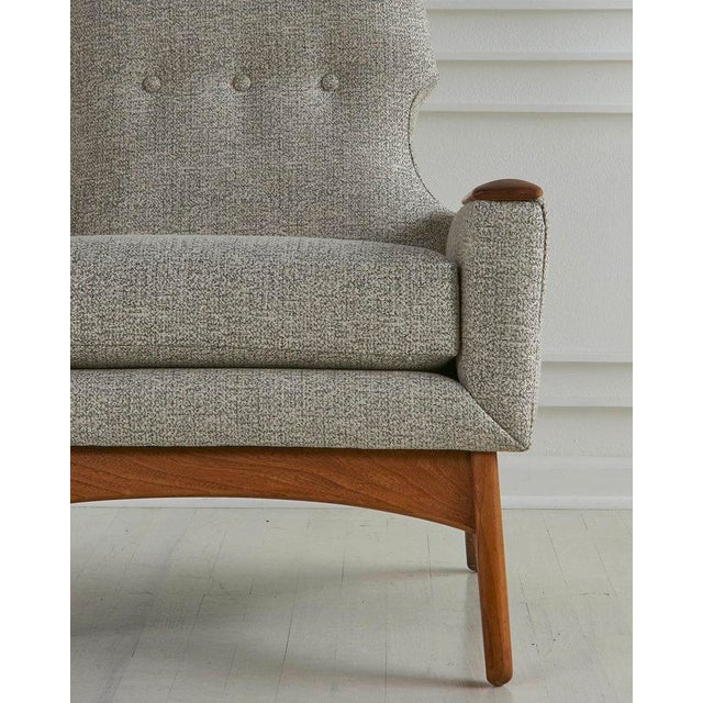 Fabric A Pair of Highback Lounge Chairs, 1960s For Sale - Image 7 of 10