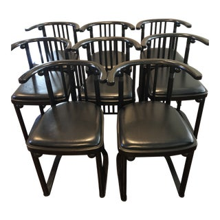 Josef Hoffmann Fledermaus Dining Armchairs - Set of 8 For Sale