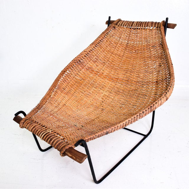 Mid-Century Modern John Risley Wicker & Iron Chair, Mid Century Modern For Sale - Image 3 of 11
