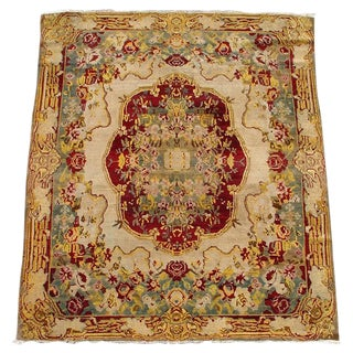 Indian Agra Carpet - 4′10″ × 5′8″ For Sale