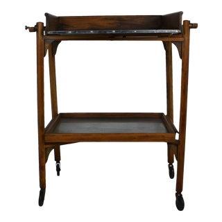Art Deco Fold-A-Way Tea Cart For Sale