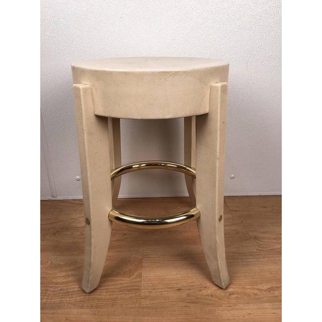 Karl Springer Albino Python Side Table - Image 3 of 12