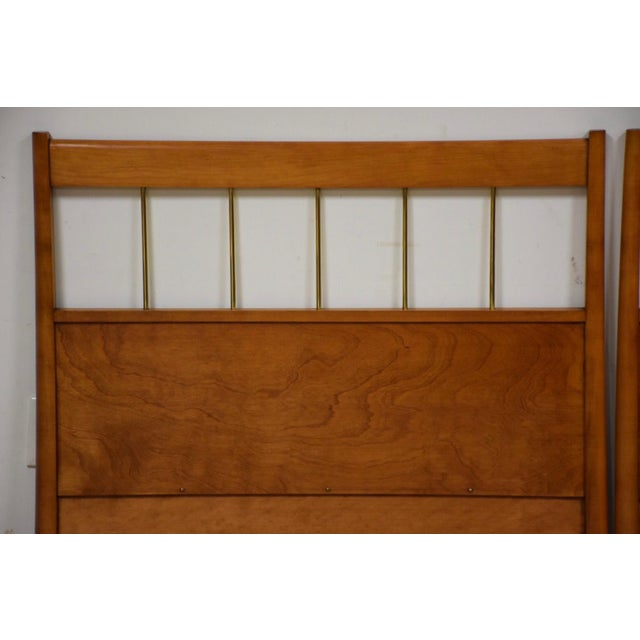 Mid-Century Modern Paul McCobb Planner Group Headboards- a Pair For Sale - Image 3 of 10