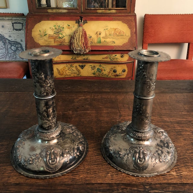 18th Century Silver on Copper Repousse Swedish Candle Holders - a Pair For Sale - Image 13 of 13
