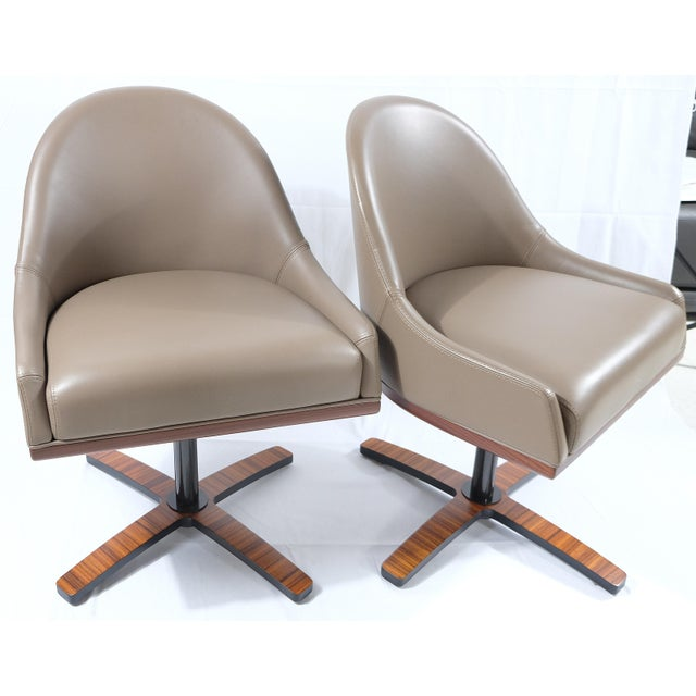 """Medea Mobilidea """"Chic"""" Swivel Chairs Designed by Umberto Asnago- a Pair For Sale - Image 12 of 12"""