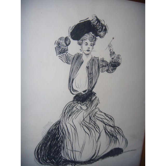 Vintage 1906 Original Drawing by John G Wilson - Image 4 of 7