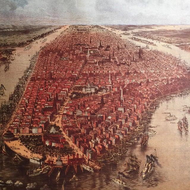 Historic Maps Views of New York Coffee Table Book For Sale - Image 5 of 8