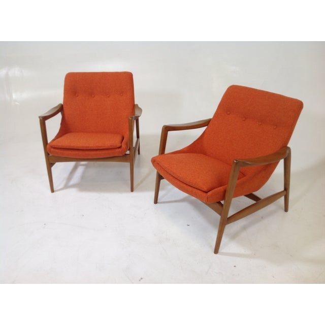 Mid Century Modern Lounge Chairs - 2 For Sale - Image 5 of 7