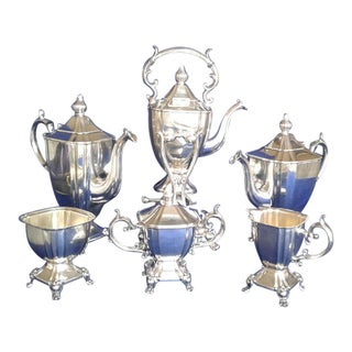 Goldfeder Silverplate Art Nouveau Tea Set For Sale