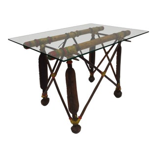 African Tribal Tuareg Camel Saddle Stand Side Table For Sale