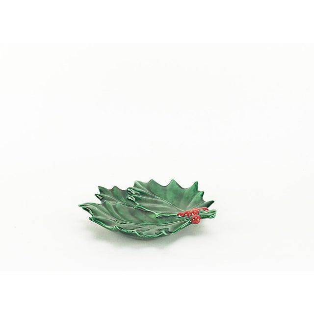 Vintage Christmas Holly Leaf Dish - Image 2 of 4