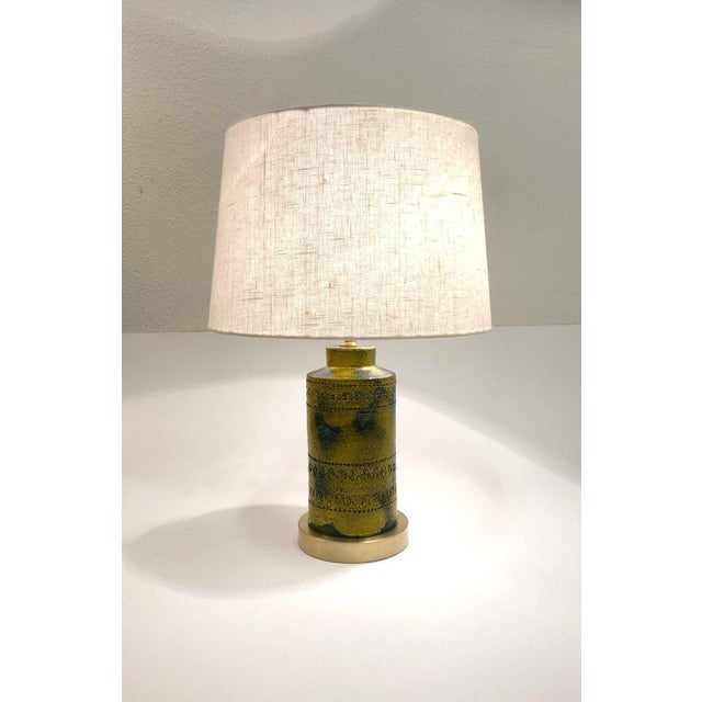 1970s 1970s Italian Ceramic Table Lamps by Bitossi - a Pair For Sale - Image 5 of 9