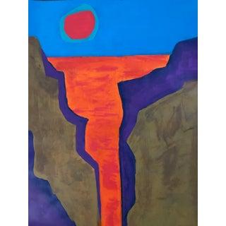 Tony Marine Mid-Century Inspired Landscape Painting For Sale