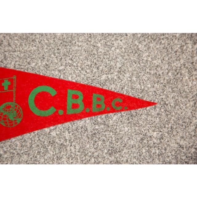 Mid-Century Modern Vintage CBBC Felt Flag For Sale - Image 3 of 3