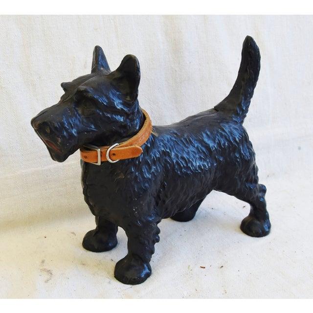 Vintage Cast Iron Dog Terrier Figure Doorstop Chairish